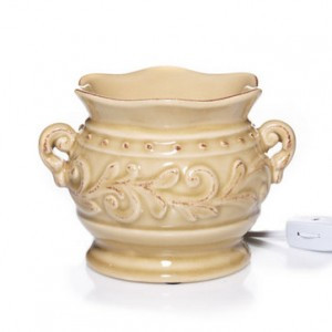 Vase Wax Melter Ivory Electric