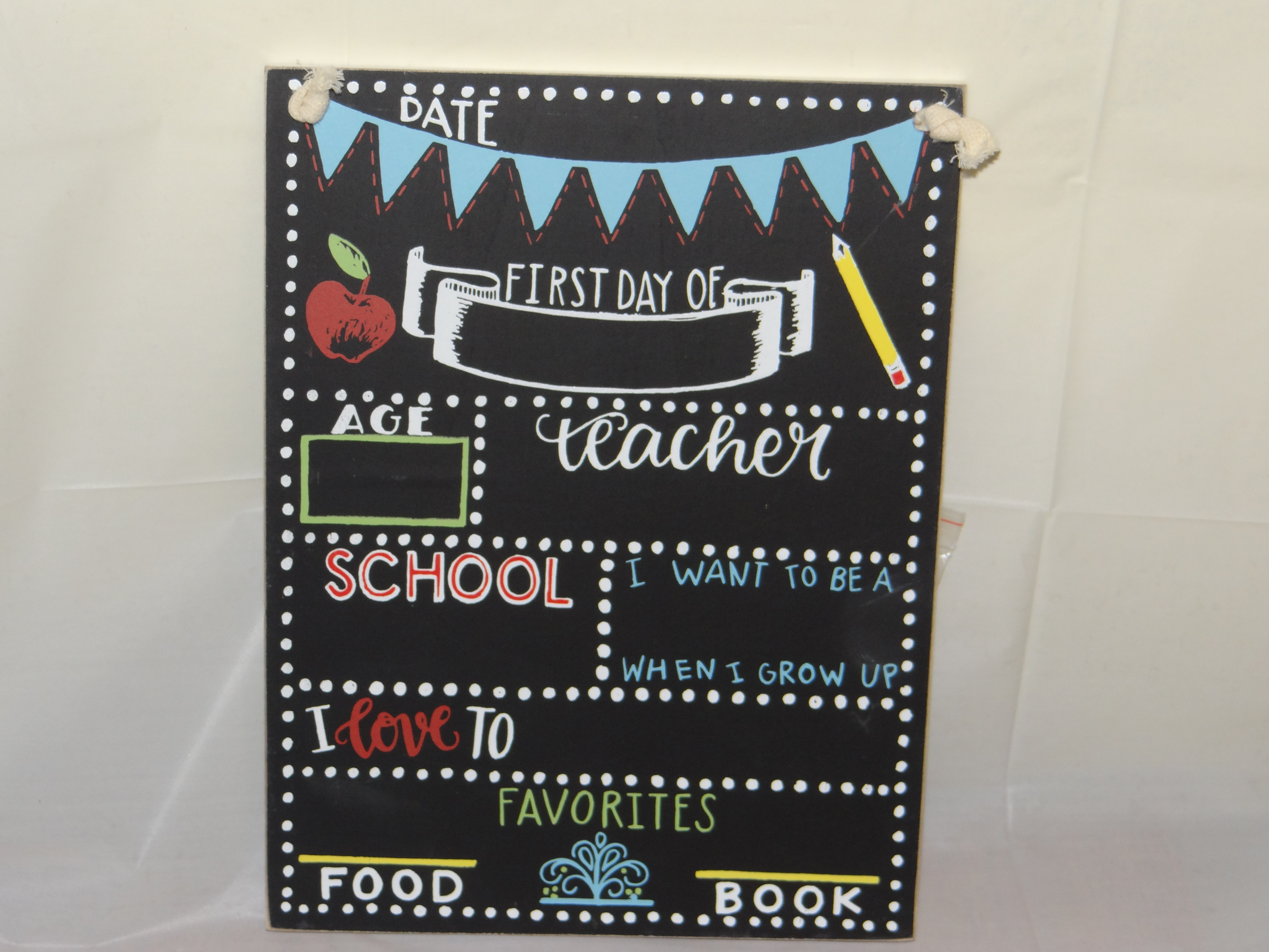 First Day of School Sign Chalkboard