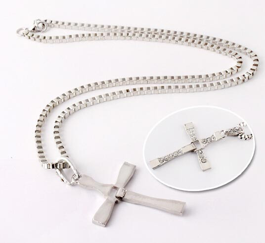 Fast and Furious Inspired Men Cross Necklace