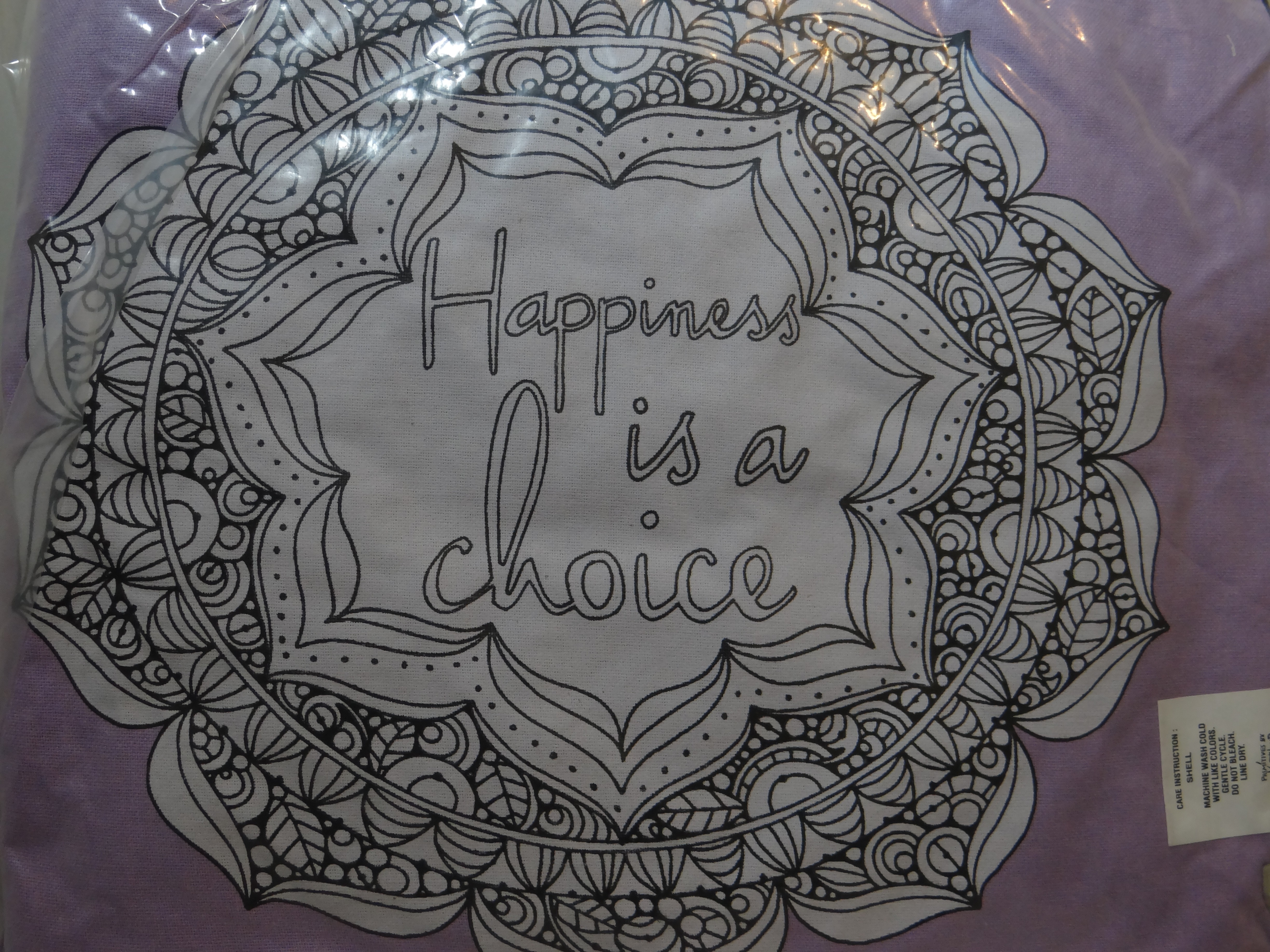 Happiness is a Choice Pillow