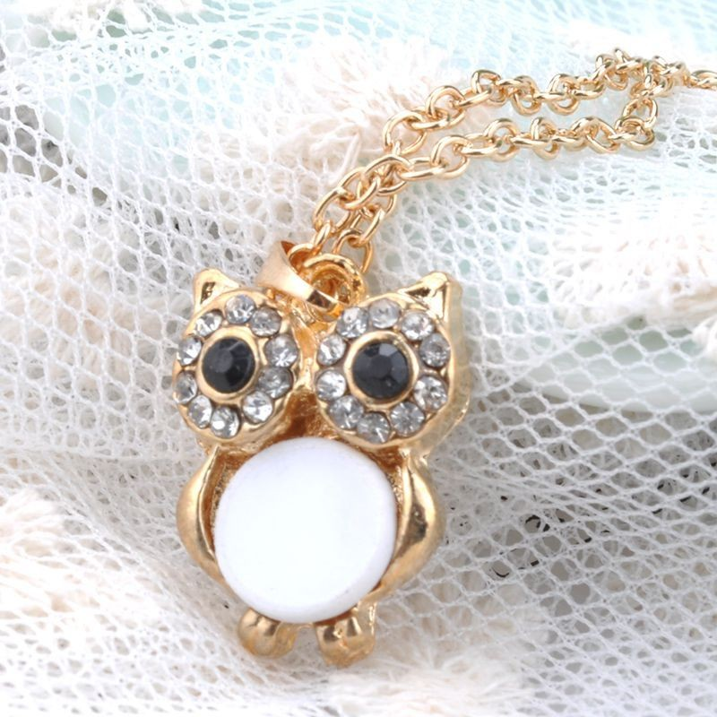 OWL CRYSTAL NECKLACE