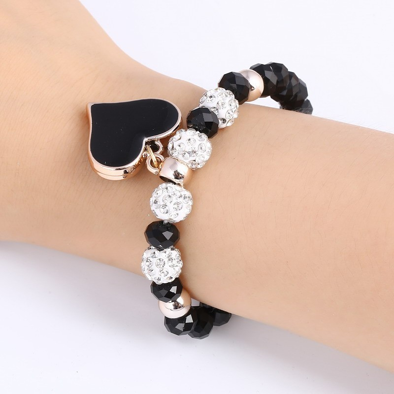 Crystal Bangle Heart Bracelet Women
