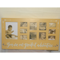 Baby Adventure Frame Yellow Arrows
