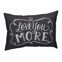 Love You More Chalk Pillow