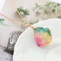 Fashion Rainbow Stone Necklace