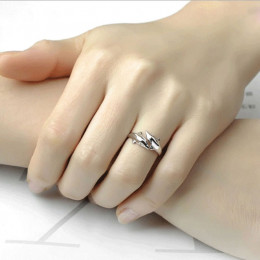 Double Dolphin Silver Adjustable Ring