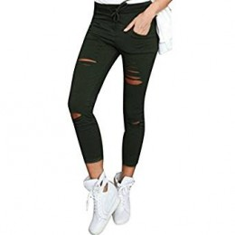 Black Ripped Jeggings Leggings
