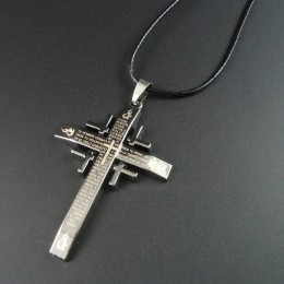 Men's Cross Necklace Italian Verse Bible