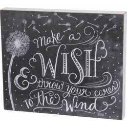 Make a Wish and throw your cares into the wind Decorative Pillow